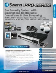 Pro Security System with Smartphone-Controllable DomeCams ...