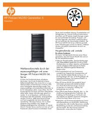 HP ProLiant ML350 Generation 6-Datenblatt - Cancom