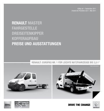 Renault MasteR FaHRGestelle DReiseitenkippeR koFFeRauFbau ...