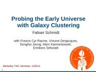 Probing the very early Universe with large-scale structure - Berkeley ...