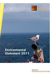 Taqa Bratani Ltd - Department of Energy and Climate Change