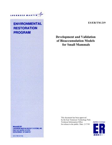 Development and Validation of Bioaccumulation Models for Small ...