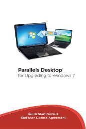 For Upgrading To Windows 7 Parallels Desktop