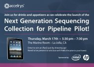 Next Generation Sequencing Collection for Pipeline Pilot! - Accelrys