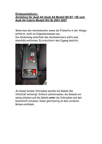 Anleitung Armlehne A4A6T