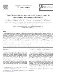 Effect of grain refinement by severe plastic deformation on the ... - Free