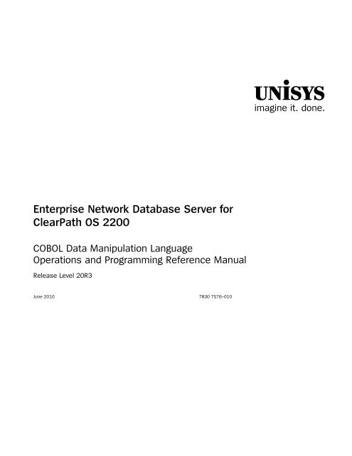 Network Database Server COBOL Data Manipulation Language