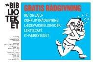 Gratis rådgivning på BIBLIOTEKET flyer/plakat - Københavns ...