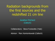 Radiation backgrounds from the first sources and the redshifted 21 ...