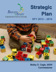Strategic Plan SFY 2012 – 2014 - Bright from the Start