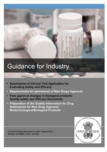 CDSCO - Guidance for Industry - Central Drugs Standard Control ...