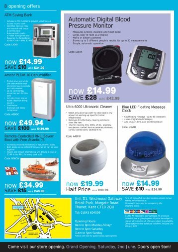 Thanet & Lincoln Leaflet - Maplin Electronics