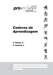 Caderno de Aprendizagem - Unidade 3 - Portal do Professor