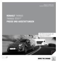 Renault twingo twingo PReise und ausstattungen - Renault Preislisten
