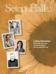 Seton Hall Magazine, Summer/Fall 2002 - Seton Hall University