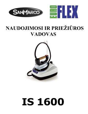 IS 1600_IS 5500 Lyginimo sistema.pdf - UAB Krinona - prekių ...