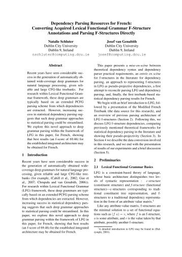 Converting Acquired Lexical Functional Grammar F-Structure ... - VISL