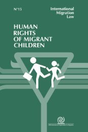 Human Rights of Migrant Children, IOM - Global Migration Group