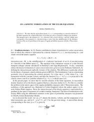 ON A KINETIC FORMULATION OF THE EULER EQUATIONS 0.1 ...