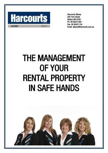the management of your rental property in safe hands - Harcourts