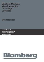 Washing Machine Waschmaschine Lave-linge Lavatrice - Blomberg