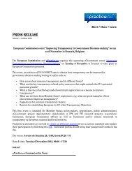 PRESS RELEASE - ePractice.eu