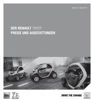 der renault twizy - Renault Preislisten