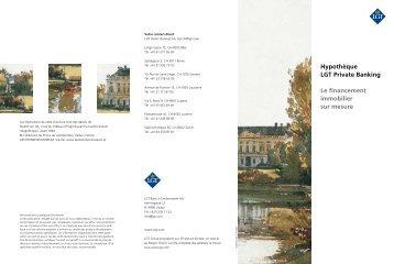 Hypothèque LGT Private Banking Le financement immobilier sur ...