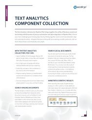 Read the Text Analytics Component Collection Datasheet - Accelrys