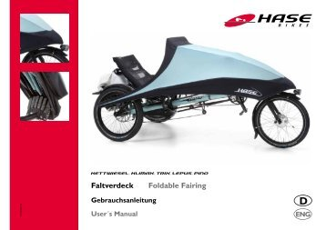Faltverdeck Foldable Fairing - Hase Bikes