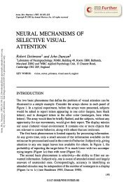 Neural Mechanisms of Selective Visual Attention