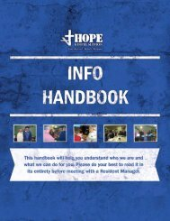 Our Programs - Hope Gospel Mission