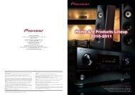 Home A/V Catalog 2010 - 2011 (Autumn edition) - Pioneer