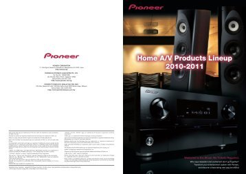 Home A/V Catalog 2010 - 2011 (Autumn edition) - Pioneer