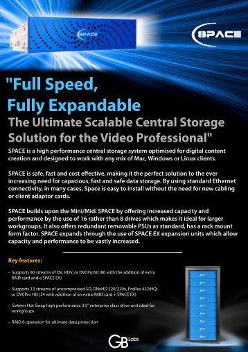 SPACE is a high performance central storage system ... - NMR