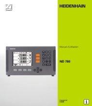 2 Utilisation du ND 780 - heidenhain - DR. JOHANNES ...