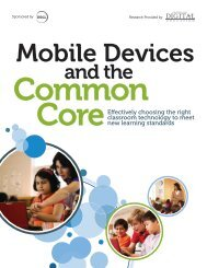 Mobile devices and the Common Core - Center for Digital Education