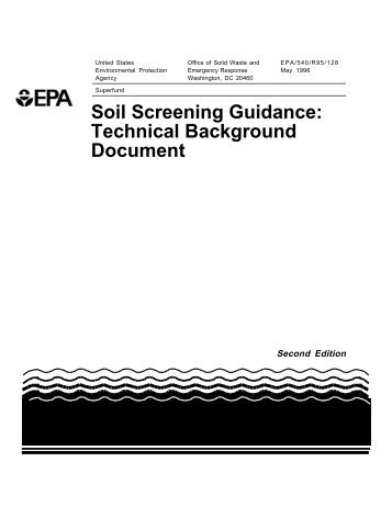 Technical Background Document - US Environmental Protection ...