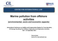 Marine pollution from offshore activities - Centre for International Law