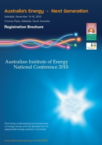 Download the Flyer and Registration Form - Australian Institute of ...