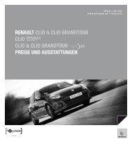Renault clio & clio GRandtouR clio clio & clio GRandtouR PReise ...