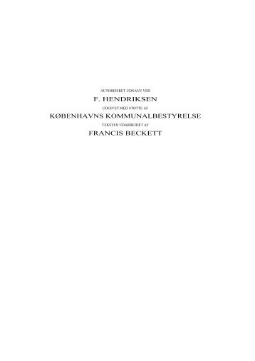 Københavns Rådhus, afsnit 1-7 (pdf) - Københavns Biblioteker ...