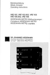 21837191 - heidenhain - DR. JOHANNES HEIDENHAIN GmbH