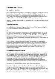 L–CyStein und L-Cystin Verzehrvorschlag Die ... - Peter-weck.de