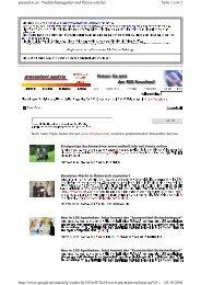 Seite 1 von 2 pressetext.at Nachrichtenagentur und Presseverteiler ...
