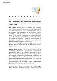 Hintergrund: Biografien der Mitwirkenden - PEN-Zentrum Deutschland