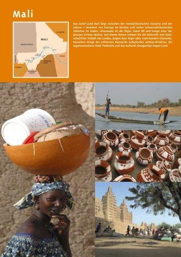MALI Das Sahel-Land Mali liegt zwischen der ... - A+M Africa Tours