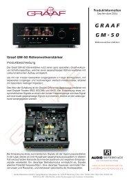 Graaf GM-50 Röhrenvollverstärker - Audio Reference