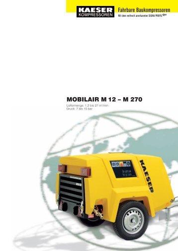 MOBILAIR M 12 – M 270 Fahrbare Baukompressoren - Abt ANLAGEN