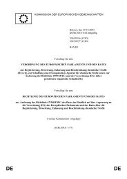 Vorschlag für eine EU-Verordnung vom 29.10.2003 - FSDZ